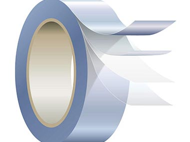 Roll of  tape showing four layers isolated