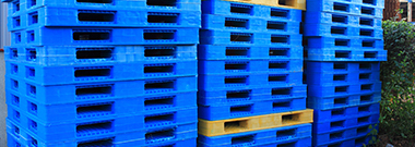 Stack of plastic crates