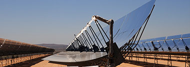 SEGS solar thermal energy desert electricity plant