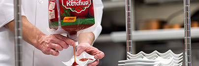 tomato ketchup squeezed out of pacxpert packaging technology