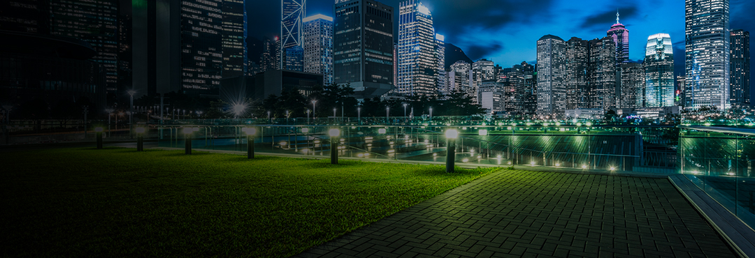 City scape night lights