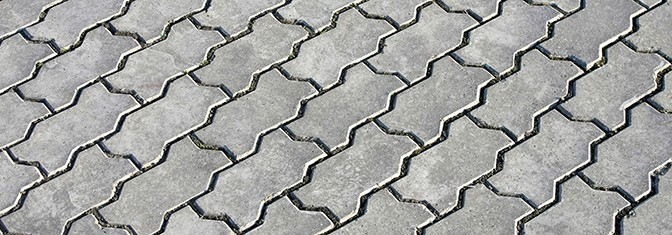Pavement concrete bricks in zigzag form texture